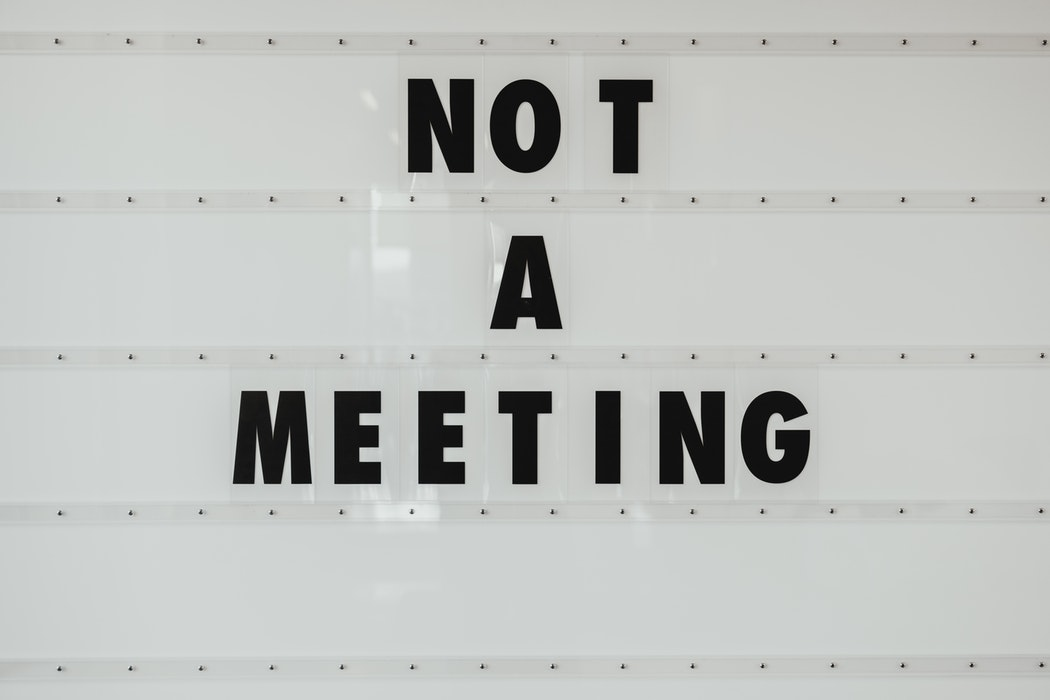 Not a meeting sign