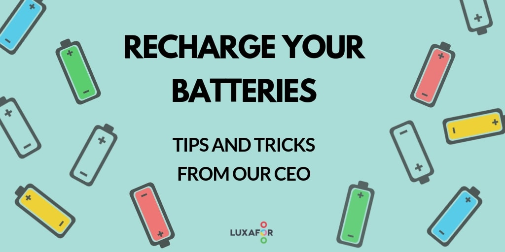 CEO tips on productive recharging